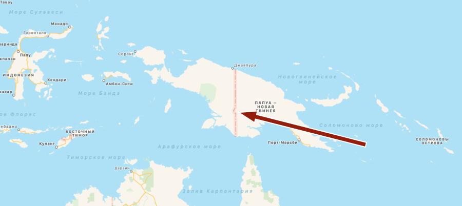 граница папуа и папуа новая гвинея